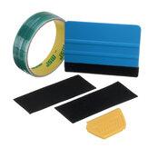 Cinta de línea de meta de 15 m Coche Etiqueta adhesiva de película Recorte Recorte herramienta con escobilla de goma