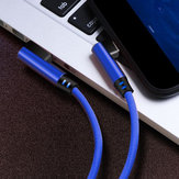 Bakeey 0.25/1M/2M 2.4A Double Elbow Braided Micro USB To USB Fast Charging Data Cable for Mobile Phone