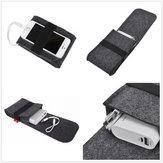 Power Bank Mouse Usb Cable Acessórios digitais Bolsa de armazenamento de feltro