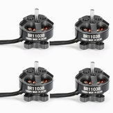 4X Racerstar Racing Edition 1103 BR1103B 10000KV 1-3S Brushless Motor Black For 50 80 100 RC Drone FPV Racing