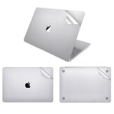 Lention 2 in 1 Pure Color 4H Anti-Scratch Ultra-Thin Top + Bottom Full Body Soft TPE Sticker Protector for Macbook Pro 16 inch