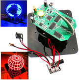 مجموعة Geekcreit® DIY Spherical Rotating LED Kit POV لتدريب اللحام