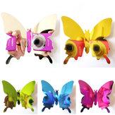 12PCS 5 kleuren 3D Spiegel Oppervlak Butterfly Muur Sticker Koelkast Magneet Home Decor Art Applique