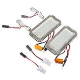 18 SMD LED Luzes de Placa de Licença Super Branco Par Livre de Erros para Fiat 500 500C