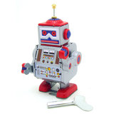 Classic Vintage Clockwork Wind Up Robot Kids Reminiscence Tin Zabawki z kluczem