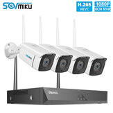 SOVMIKU SWK-4HT822 8CH 1080P Wireless CCTV System 4pcs 2MP Outdoor Wifi IP Camera 8CH NVR Recorder Video Security Camera System Surveillance Kit