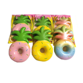 Vlampo Squishy Jumbo Pineapple Doughnut Licensed Slow Rising Embalaje original Fruta Colección Regalo Decoración Juguete