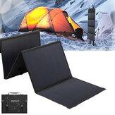 40W solpaneler 2 USB + DC vandtæt foldning Solar Monokrystallinsk Silicon Board Power Bank Solar Charger Bag Camping Rejse