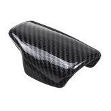 Cap de tampa de cabeça de botão de mudança de marchas de fibra de carbono para Audi A4 B9 A5 Q7