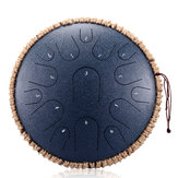 HLURU Steel Tongue Drum 13 inch 15 tone Drum Handheld Tank Drum Percussion Instrument Yoga Meditation Beginner Music Lovers Gift