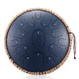 HLURU Tongue Drum Drum 13 inch 15 tone Drum Handheld Drum Drum Instrumento de Percussão Yoga Meditação Iniciante Amantes de Música Presente