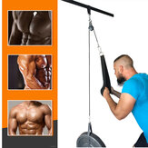 9 In 1 1.4/1.8/2.0/2.5M Fitness Pulley Cable Machine System Training Triceps Biceps Shoulders Chest Arm Hand Strength Training Kit