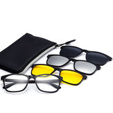 3 Piece Magnet Dual-Purpose Reading Glasses Lens With Frame