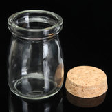 Mini Small Clear Glass Storage Jars Bottle Vial Container with Cork Stopper