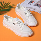 Women Casual Comfy Soft Sole White Court Sneakers