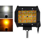 3.5 pouces 36W LED lampe de travail stroboscope Flash lampe blanc + ambre double couleur 10-30V pour camion tout-terrain SUV ATV