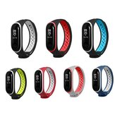 Bakeey Double Color Silicone Watch Strap Sostituzione Smart Watch per Xiaomi Mi Banda 3 Non originale