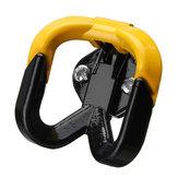 Gant de casque de cintre de crochet de moto jaune universel pour Honda/Kawasaki/Yamaha / Scooter
