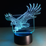 Fly Eagle USB 3D LED Luzes Colorful Toque Night Light Christmas Gift