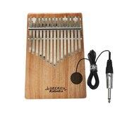 GECKO 15 Key Kalimba G Tone Thumb Piano Mbira Keyboard Instrument + Pickup Camphor Wood Kalimba Musical Instrument K15CAPEQ