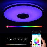 40 سم بلوتوث واي فاي LED سقف ضوء RGB التطبيق موسيقى مكبر صوت قابل للتعتيم مصباح مع التحكم عن بعد مراقبة 110-245V