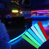 12X2 Zoll 12V flexible Elektrolumineszenz-Band EL Panel Hintergrundbeleuchtung Dekorationen Licht mit Inverter