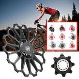 8-17Tアルミ合金自転車ディレイラープーリーホイールサイクリングガイドローラーセラミックベアリング
