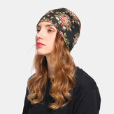 Women Floral Hat Beanie Scarf Turban Head Wrap Cap