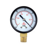 TS-50-1+1 0~-30inHg 0~-1Bar Presuure Manometer 50mm Mini Air Vacuum Pressure Gauge Meter Manometer