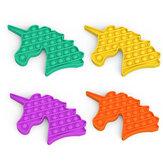 Пузырьковая сенсорная декомпрессионная игрушка с круглым пальцем, антистресс, форма единорога Soft, забавная развивающая игрушка-головолом