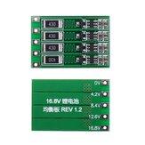 5pcs 4S 16.8V BMS PCB 18650 Lítio Bateria Cartão de proteção do carregador Balanced Board Balanced Current 100mA
