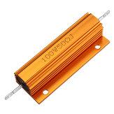 3шт RX24 100 Вт 50R 50RJ Металлический Алюминий Чехол Мощный Резистор Золотой Металлический Корпус Чехол Сопротивление Радиатора