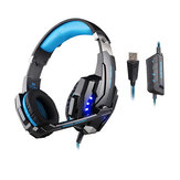 KOTION ELLER G9000 USB 7.1 Surround Sound Gaming hörlurs headset hörlurar med mikrofon LED-lampa
