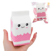 Squishy Jumbo Pink Milk Bottle Box 11cm Slow Rising Soft Collection Gift Decor Toy