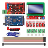 Rampas 1.4 Controller + Mega2560 R3 + 12864 Display with Limit Switch & A4988 Stepper Motor Driver DIY Kit for  CNC 3D Printer