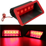 12V Car 5 LED Warning Rear Tail 3rd Third Brake Stop Light High Mount Lamp Red