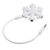 1 a 5 adaptador de áudio floco de neve para fone de ouvido divisor de áudio música divisor de áudio 5 plugue divisor de fone de ouvido de 3,5 mm