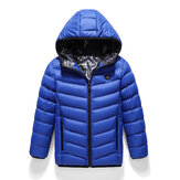 Chilidren Electric Heated Hooded Coat Winter Warm Jacket USB 3s Fast Heating