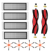 10 piezas de repuesto para XIAOMI Roborock S6 S55 accesorios de piezas de aspiradora lateral Cepillos * 4 filtros HEPA * 4 principales Cepillos * 2 no originales
