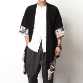 Mens Summer vendimia Cotton Cloak