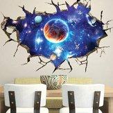 Honana Etiqueta 3D Adesivos de parede do espaço exterior Decoração para casa Arte mural Artefatos removíveis Galaxy