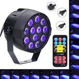 36W 12 LED UV Purple DMX Par Light Disco Bar DJ Light Show Iluminação de palco para Halloween AC90-240V