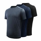 [DE XIAOMI YOUPIN] T-shirt de sport glacé Giavnvay pour homme T-shirts de course à pied ultra-minces à séchage rapide