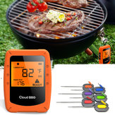 6 Probe Wireless Smart BBQ Termometro Forno a base di carne cibo bluetooth Wifi per IOS Android