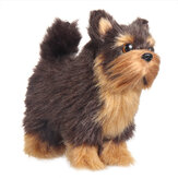 Yorkshires Terrier Realistic Simulation Plush Dog Lifelike Animal Dolls Toy for Home Decoration Collection Kids Gift