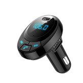 Bakeey Digital Pantalla bluetooth 5.0 QC3.0 PD Dual Type-C Kit manos libres USB Coche Transmisor FM Audio USB Coche Cargador para iPhone 11 Pro Máx. Para Samsung S20 HUAWEI Xiaomi Redmi K30