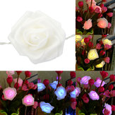 2M 20 LED Battery Powered Rose Flower Fairy String Light for Window Display Home Christmas Decor