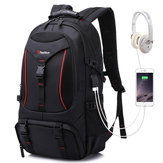 Men Outdoor Hiking Backpack Sports Travel USB Port Camping Daypack Waterproof Bag