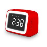 Dijital Alarm Saat FM Radyo Kablosuz bluetooth 5.0 LED Hoparlörlü Ayna