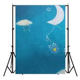 5xbébé enfants 7ft tissu photographie backdrop tir accessoires photo studio Sky nuage lune